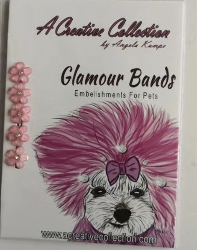 Pink rhinestone flowers glamour bands