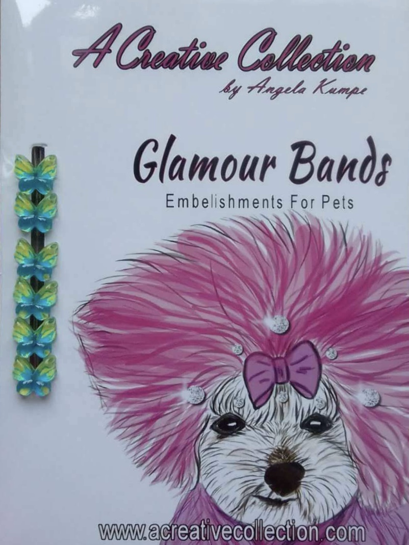 Teal and green butterfly glamour bands