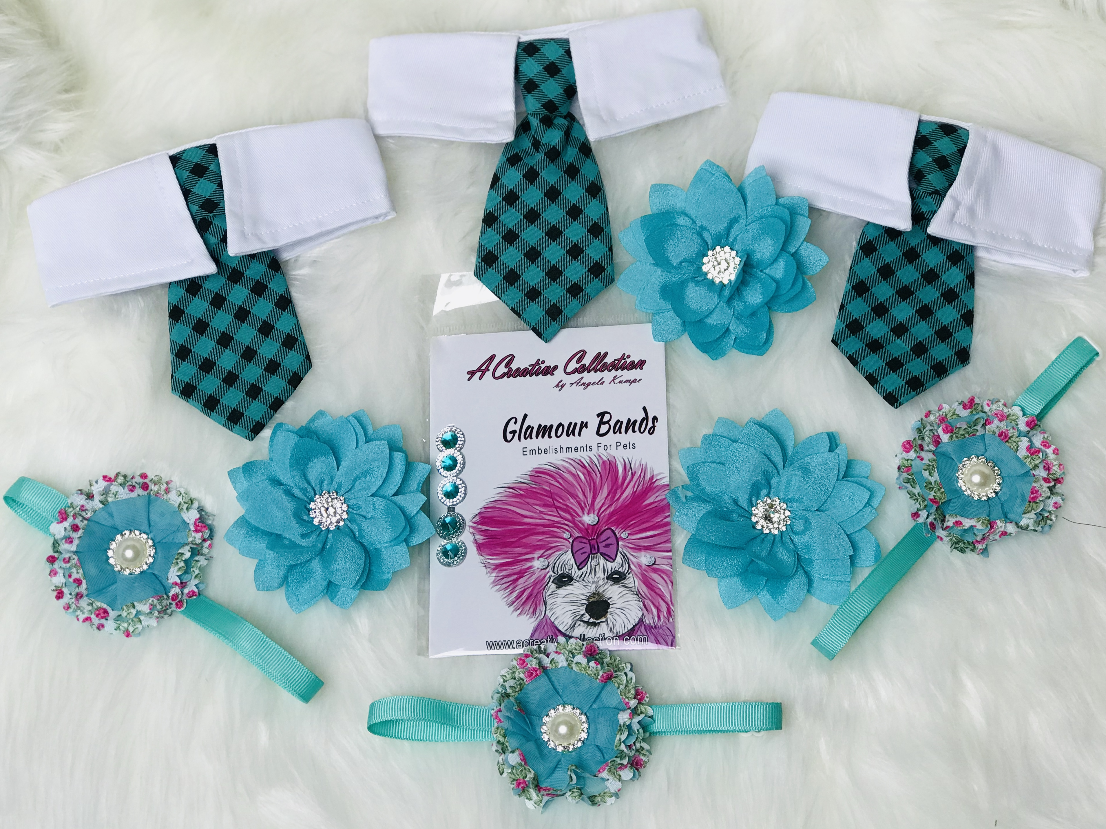 Teal accessories set A