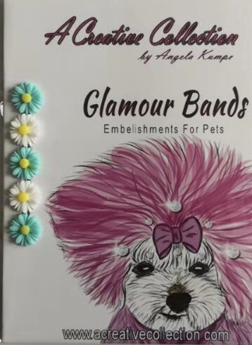 Blue and white daisy flowers glamour bands
