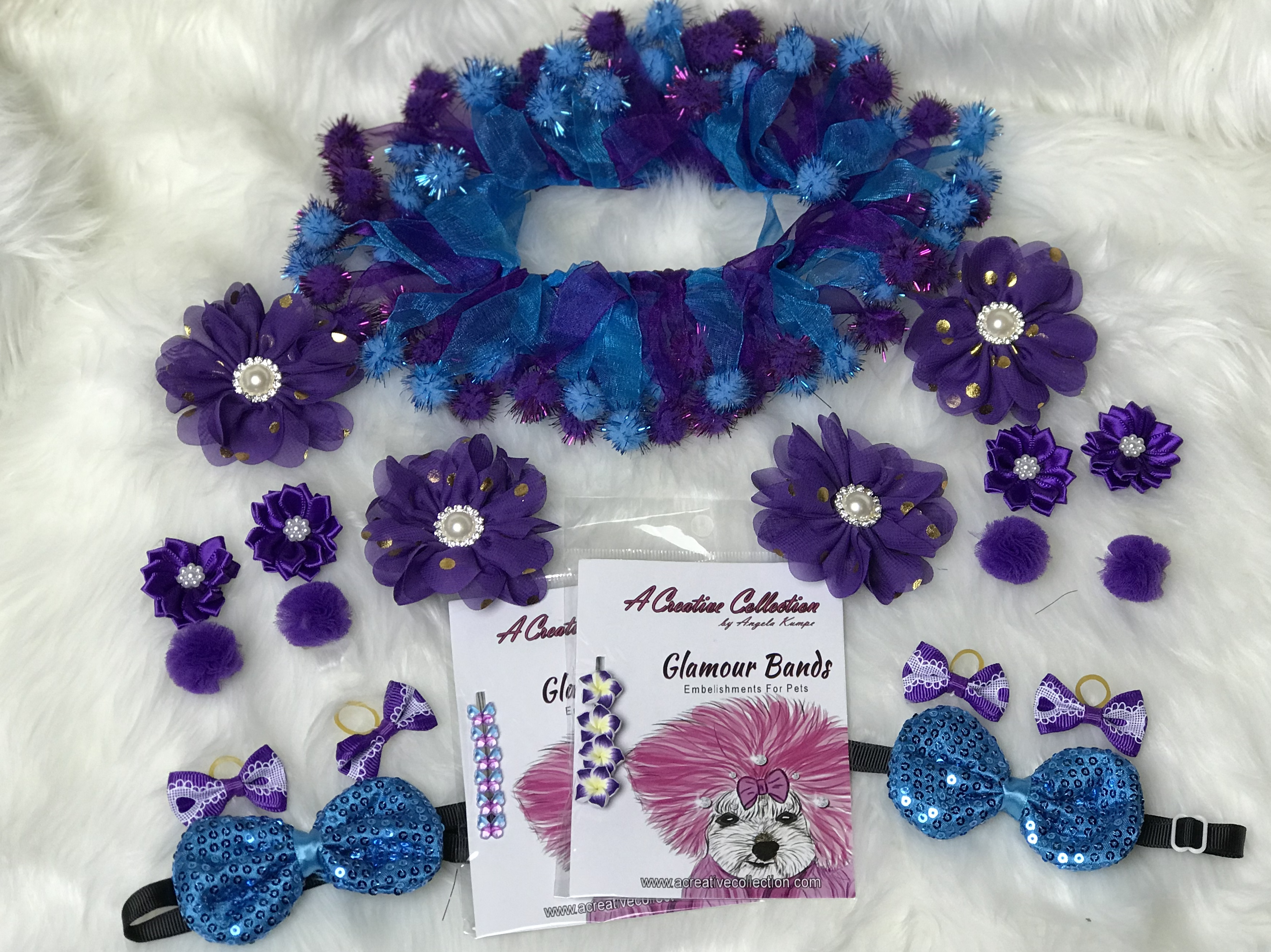 Purple/Teal accessories set