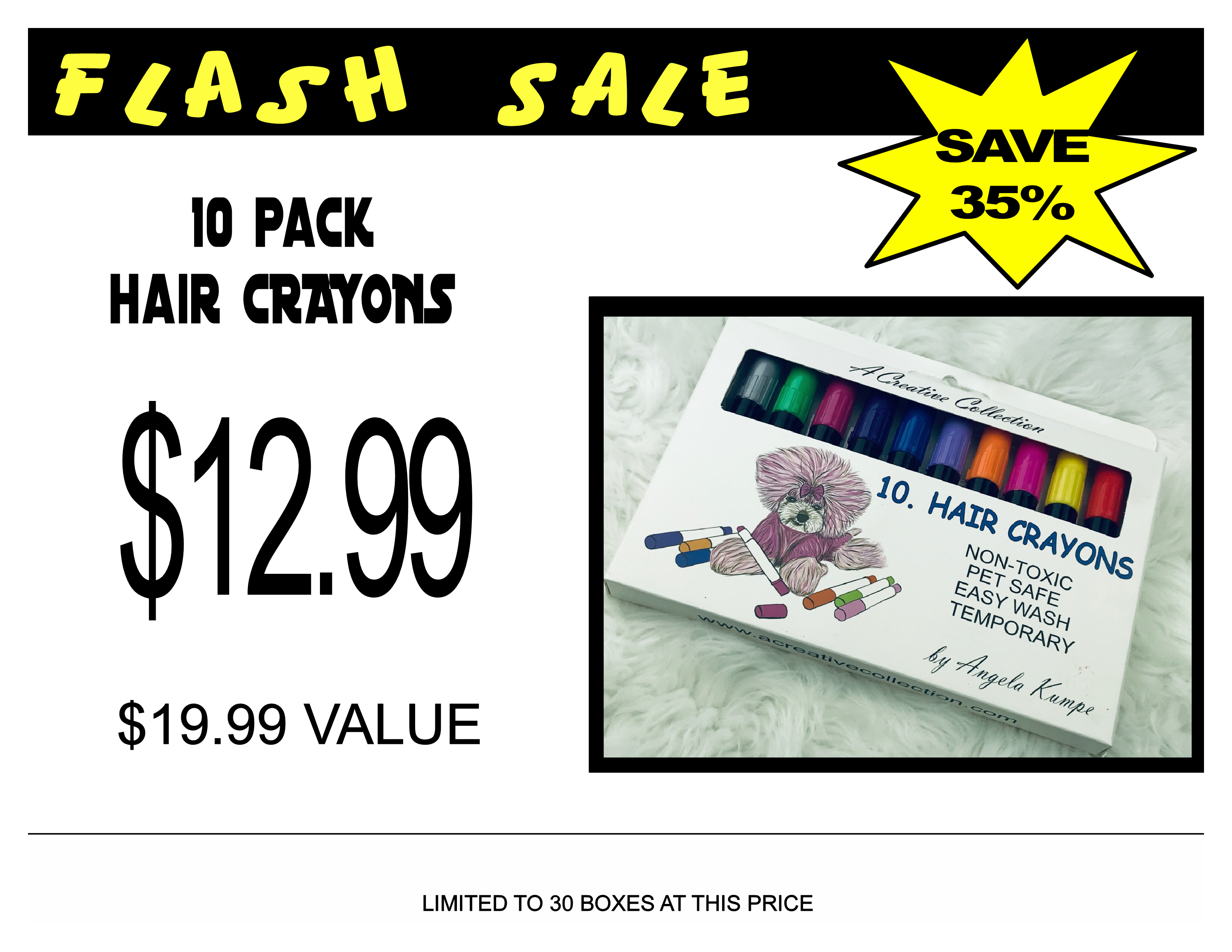 flash sale 10 pack crayons