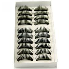 10 pair full black lashes